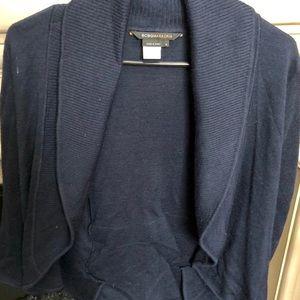 BCBG front tie navy sweater